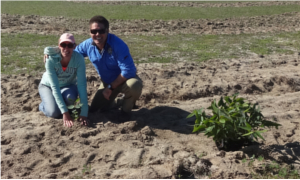 Clare and Kurt at Tree Planting 2014
